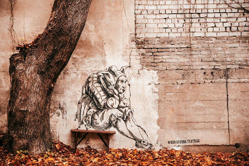 """Grafitis """"Juokdarys"""""""