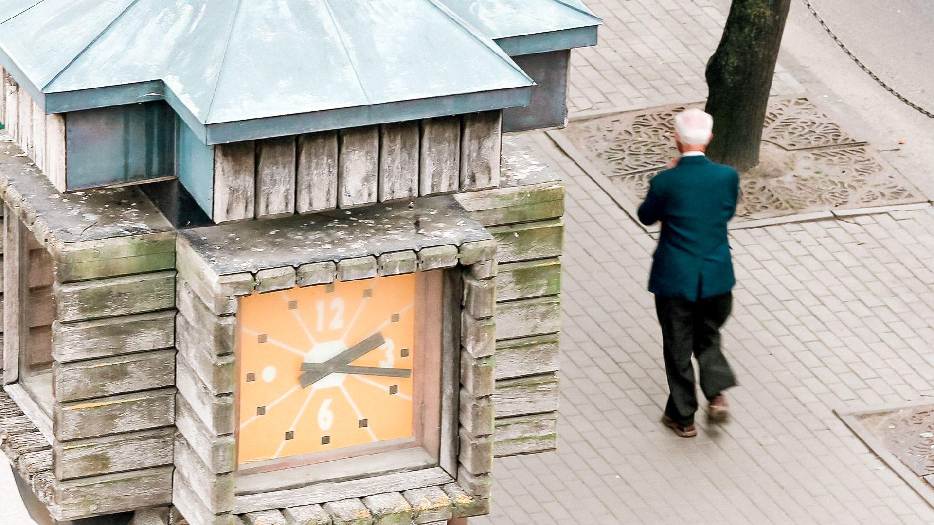 """Gaidžio laikrodžio aikštė / Miesto laikrodis """"Gaidys"""""""