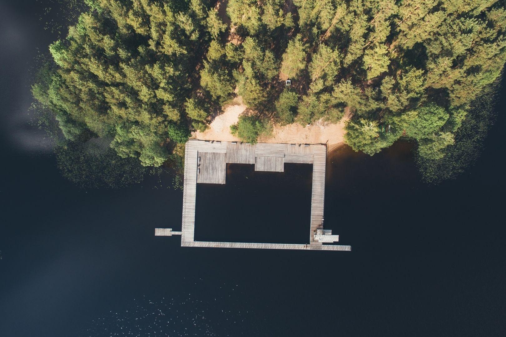 Zarasaičio ežero paplūdimys